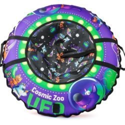 Sanki Tubing Vatrushka Cosmic Zoo UFO Violet Wolf
