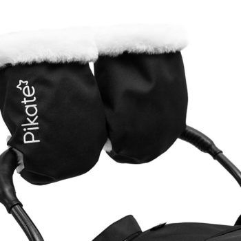 """Санки-коляска Pikate LIMITED EDITION (эксклюзивный дизайн, овчина 70%, 3 положения спинки, краска рамы """"металлик"""")"""